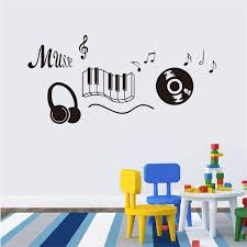 Small Picture 118x56cm Cartoon Music Headphone Design Wall Sticker Removable Art