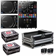 pioneer s9. pioneer djm-s9 mixer with plx1000 turnrables complete dj bundle s9