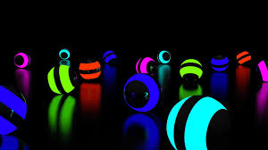 Glowing Ball Face Wallpaper - Glowing ...