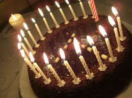 happy birthday chocolate cake with candles. Happy Birthday Chocolate Cake With Candles Wallpaper Throughout