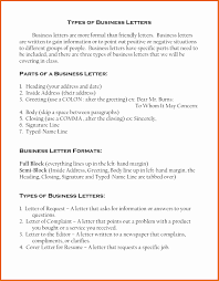Business Letters Kind Of Letter Kinds And Example Types Format