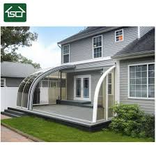 modern polycarbonate sliding sunroom with temperrd glass with low cost