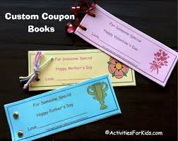 mother s day coupon book printable for kids mother s day coupon book activity for kids personalized coupon book that children can make