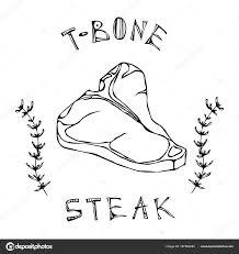 T ボーン ステーキ牛肉カット S タイム ハーブ フレームでレタリング肉
