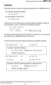 using the example above solve x in the factored quadratic equation x 1
