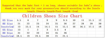 38 Faithful Baby Shoe Size Chart Korean