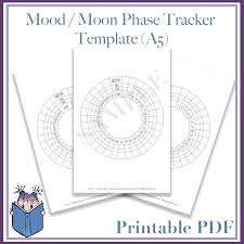 Bullet Journal Template Pdf Mood And Moon Phase Tracker Template Pdf A5 Bullet Journal Junkie