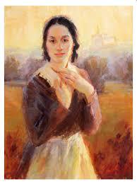 "All Things Dear,"" a portrait of Emma Smith by Julie Rogers.   Lds art, Lds  artwork, Church art"