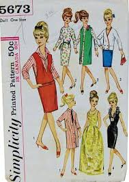 Barbie Doll Clothes Patterns Enchanting Amazon Simplicity 48 Vintage 48s Teen Fashion 4848 Doll