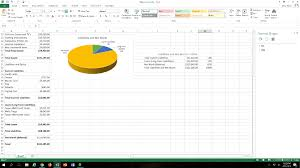 Below Is The Balance Sheet And The Pie Charts The