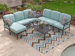 Iron Sectional Patio Furniture Decor References metal patio