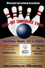 Bowling Event Flyer Wisconsin Correctional Association Conference Bowling Outing