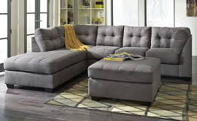 Rent Living Room Furniture Rent Signature Design Maier 2 Piece Chaise Sectional Charcoal