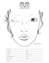 Makeup Artist Eye Charts Face Chart For Practice And Repertoire Of Looks Makeup