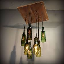 homemade lighting ideas. Homemade Lamp Shades For Wine Bottle Chandelier With Hanging Lights And Interior Paint Color Lighting Ideas