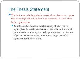 persuasive essay 3 the thesis statement