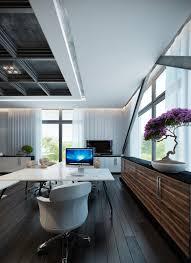 futuristic home office. Contemporary Office : Fabulous Home Workspace Inspiration White Futuristic ~ Glubdubs T