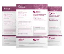 Direct Debit Form Direct Debit Form - Rainbow Electrical & Security Systems