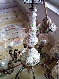 vintage interior decor chandelier capodimonte italy antik art italy