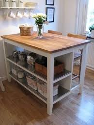 STENSTORP Ikea Kitchen Island White Oak , With 2 Ingolf White Bar Stools