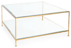 cabot hollywood regency gold glass coffee table transitional coffee tables glass top brass tables