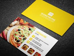 Fast Food Business Card Design Free Delicious Food Business Card On Behance