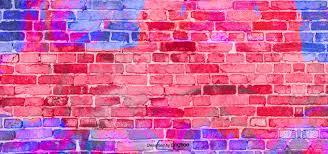neon color brick wall graffiti