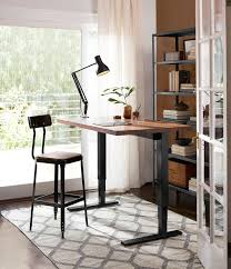 home office standing desk. humanscale sit stand desk black with walnut home office standing o