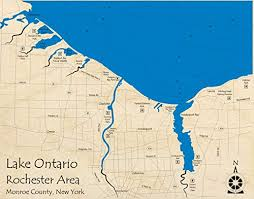 Lake Ontario Rochester Area Great Lakes Gl 3d Map 24