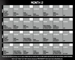 Insanity Calendar - 60 Day Insanity Workout Schedule