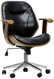 amazoncom baxton studio rathburn modern office chair walnut