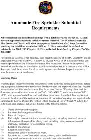 Automatic Fire Sprinkler Submittal Requirements Pdf Free