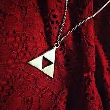 show img zelda link triforce silver necklace geek gamer switch 2