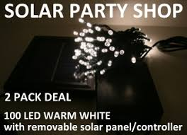 Solar Powered Fairy Lights Warm White
