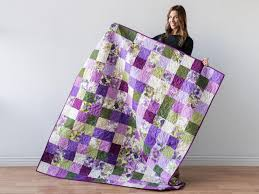 Like a Charm Violet Femme Expand-A-Quilt Kit by Craftsy featuring ... & 1 / 9 Adamdwight.com