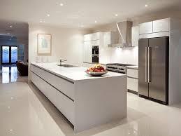 Image of: White Modern Kitchen Island