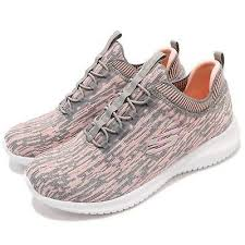 Skechers Ultra Flex Bright Horizon Gray Coral Pink Women