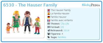 playmobil set 6530 the hauser family