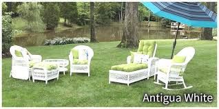 White Wicker Patio Furniture Elegant Erwin Sons Antigua Intended For