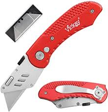 Folding Utility Knife Heavy Duty Box Flip Cutter 5 SK5 ... - Amazon.com