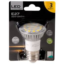 3w E27 Led Bulb 180lm 4200k Neutral White Eglo 12728