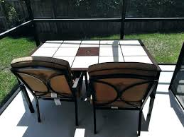 tile outdoor table. Garden Table 4 Chairs Tile Patio Ceramic Home In Outdoor L