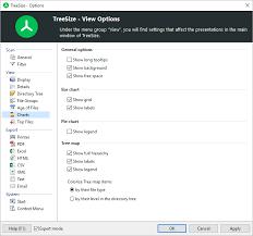 Options Chart Using Treesize Options Dialog View Charts