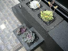 painting cinder blocks for garden cinder block planter detail 2 affect painted cinder block garden wall