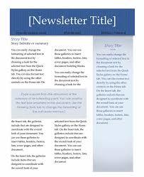 Newsletter Templates On Microsoft Word