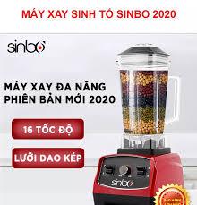 Máy xay sinh tố công nghiệp SINBO công nghệ Đức- xay được cả đá- công suất  1200W dung tích lớn 2L- phiên bản chuyên dụng nhà hàng khách sạn