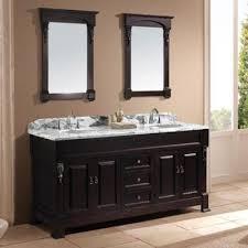 Navy vanity, gold hardware, marble vanity, gold sconces + countertop  styling. Bathroom DrawersDark ...
