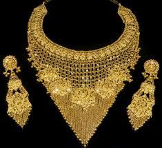 emerald diamond set heavy gold necklace set