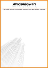 Letterhead Format For Company Free Formal Invitation Template
