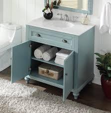 Adelina 34 inch Cottage Bathroom Vanity White marble Top